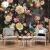 壁の仙境のヨーロッパ式の豪華な手描きの復古的な唯美のバラの草の大きい花の壁紙のアメリカ式居間のテレビの背景の壁の紙を画定して壁画のベッドルムを注文して作らせます。シームレスな壁の布は銀の繊維の布をよけます(工事をくわえません)60元/平方