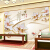 花恋香現代簡約テレビ背景の壁壁紙8 Dアイス彫刻家と富貴壁画九魚図ハスの壁紙居間ベルム映画とテレビの壁紙のシームレスな銀布