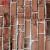秋田粘着式壁紙復古レンガ模様テープ壁紙大学生寮転覆レストラン喫茶店店ウォーカー45センチ幅*1メートルの長いコーヒーレンガ