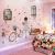 北欧ins風シールウォーウォーカー寮装飾暖かいベドルームベッド3 D立体粘着式壁紙貼付後ろ姿の女の子+偽窓の大きさ