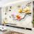 梵帝欧8 Dテレビ背景の壁壁画5 D立体防水性壁紙現代居間装飾壁紙3 Dシームレス壁紙新中国式の家と富貴蓮花の組み合わせ映画とテレビの壁画家と富貴蓮花の3 Dシームレスなシルク布/平方メートル