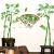 3 D立体ウォーカー絵コンテアイデア居間壁背景の壁部屋装飾壁紙粘着式壁面壁画16ハスの妖精+青竹ハスの仙子+青竹特大