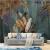 北欧壁紙手描き熱帯植物壁紙芭蕉の葉壁紙テレビ背景の壁壁カスタマイズシームレス3 d壁画3 D輸入シームレスパープル