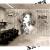 理髪店の3 D壁紙レトロな個性的なサロンサロンサロンの装飾の背景の壁の壁紙の絵1壁の紙+のり