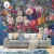 壁の仙境の北欧の手描きの油絵のバラの花の壁紙を描いて居間のテレビの背景の壁紙の映画とテレビのアメリカ式の張カスタマイズの壁画のベッドルムのシームレスな壁の布を織らないで壁の布をよけます(工事をくわえません)の60元/平方