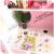 壁紙の寮の大学生の暖かいピンク色の壁紙は自分で防水性の書付けの女の子の寝室の少女の心の壁紙の壁紙を貼ります。
