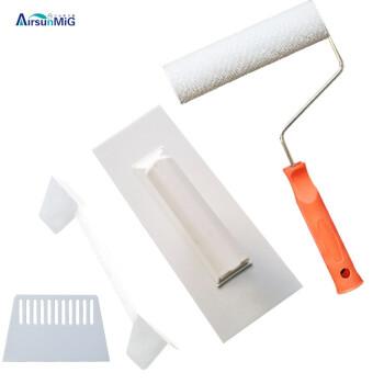 壁衣工具壁衣施工工具セット壁衣繊維塗料塗装工具塗抹子スクレーパロール陰陽角塗り+スクレーパ+ロール+陰陽角セット