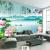 芸術舎はシームレスに壁紙をカスタマイズします。中国風の山水竹のハスの花が居間テレビの背景の壁の壁画5 Dスティレオの壁紙3 d壁の写真図。ソファーの壁に9魚の絵をカスタマイズします。8 D水晶の壁画1平方メートルです。