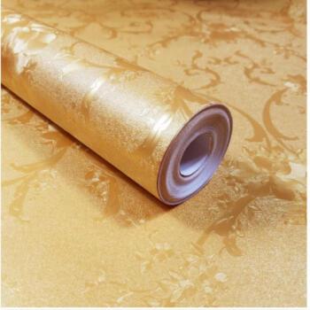 1米宽10米长厚く粘着式墙纸背景の壁ベッドルーム居間寮寝室壁紙装饰纸一米宽10米蓝富贵特大 一米宽10米金富贵 特大