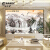 3 dテレビ背景の欧風の壁布はシームレスで5 dの凹凸があります。立体テレビの壁は簡単です。背景8 dシルクの壁紙はテレビの壁の壁画を描いています。18 D映画の壁紙は66540鶴の太陽の滝です。